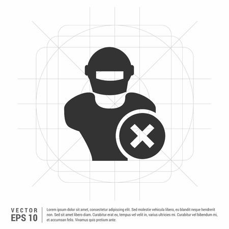 Illustrazione per Hacker Icon - Immagini Royalty Free