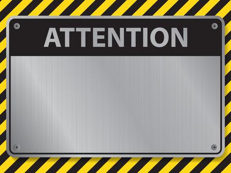 Illustration pour Attention sign, illustration vector - image libre de droit