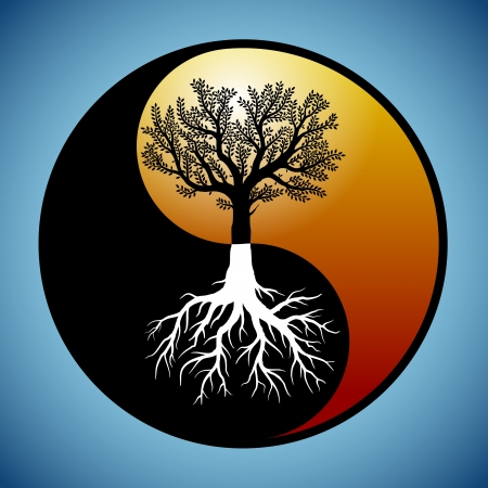 Illustrazione per Tree and it - Immagini Royalty Free