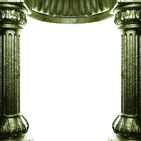 vector bronze columns and arch
