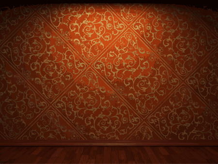 Illustration pour vector illuminated fabric wallpaper background - image libre de droit