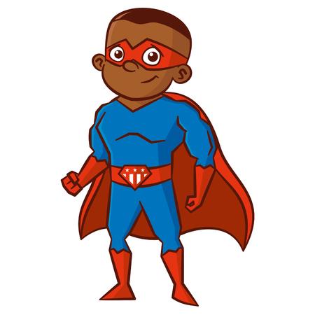 Ilustración de Superhero boy Cartoon character - Imagen libre de derechos
