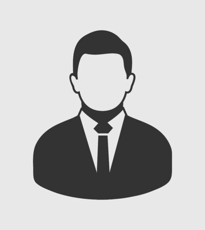 Illustrazione per Corporate Man Icon. Flat style vector EPS. - Immagini Royalty Free