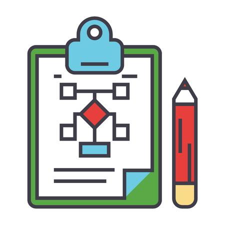 Illustration pour Business scheme plan icon. - image libre de droit