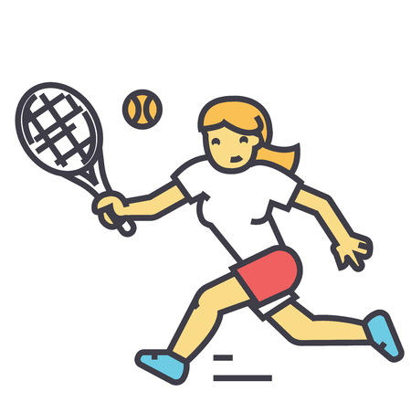Ilustración de Tennis player illustration. - Imagen libre de derechos