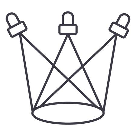 Illustration pour sport lights vector line icon, sign, illustration on white background, editable strokes - image libre de droit