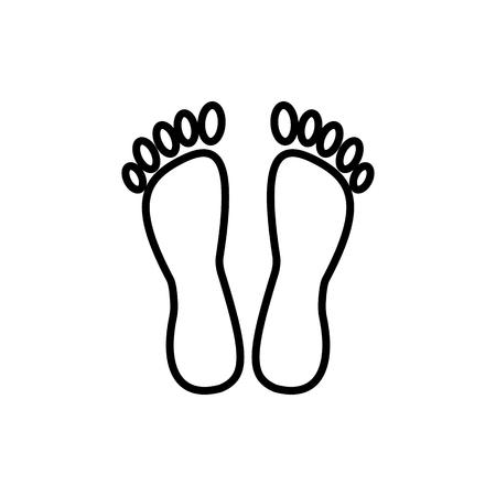 Ilustración de Feet vector line icon - Imagen libre de derechos