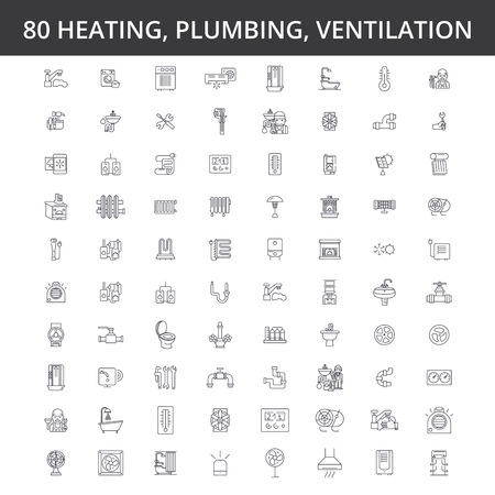 Illustration pour engineering line icons signs Illustration vector concept Editable strokes - image libre de droit