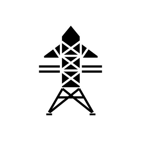 Illustration pour Power line icon - image libre de droit