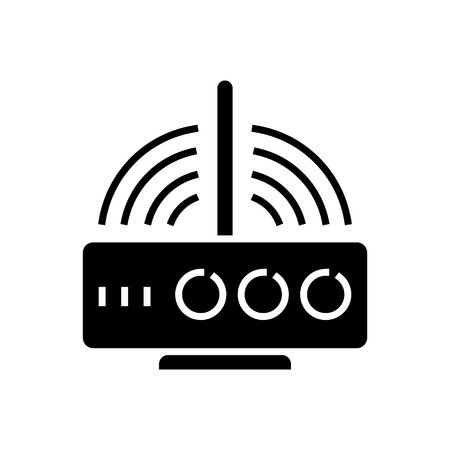 Ilustración de router wireless icon, illustration, vector sign on isolated background - Imagen libre de derechos