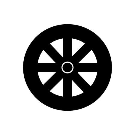 Ilustración de wheel icon, illustration, vector sign on isolated background - Imagen libre de derechos
