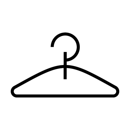 Illustrazione per hanger icon, illustration, vector sign on isolated background - Immagini Royalty Free