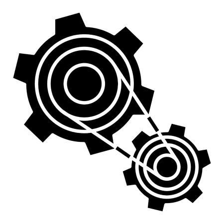 Ilustración de Motor settings, engine icon, design illustration. - Imagen libre de derechos