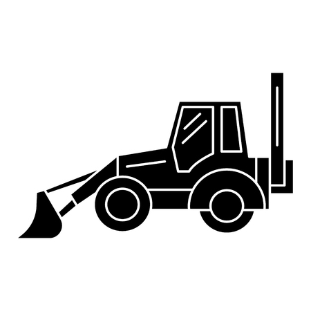 Illustration pour bulldozer icon, illustration, vector sign on isolated background - image libre de droit