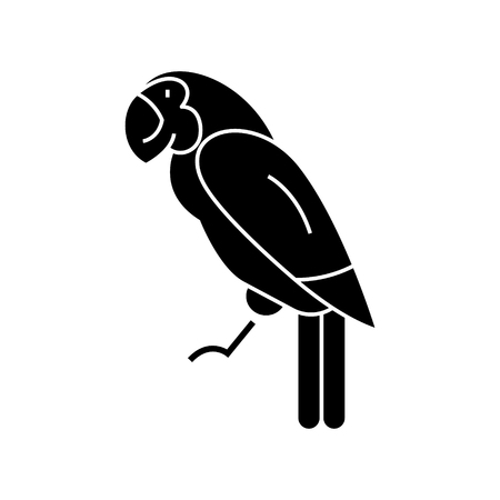 Illustration pour Parrot  icon, vector illustration, black sign on isolated background - image libre de droit