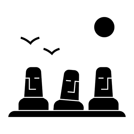 Illustration pour Monolith, megalith icon, vector illustration, black sign on isolated background - image libre de droit