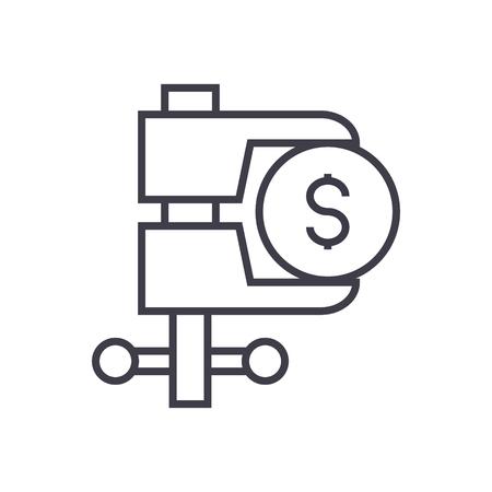 Ilustración de Tax reduction line icon. - Imagen libre de derechos