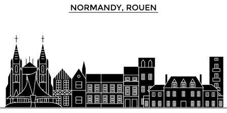 Illustration pour France, Normandy, Rouen architecture. - image libre de droit