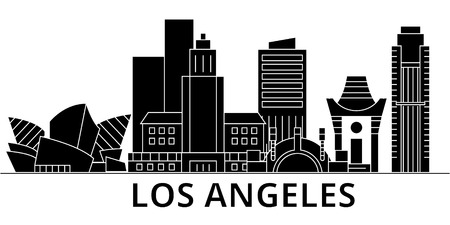 Illustration pour Los Angeles city architecture illustration. - image libre de droit