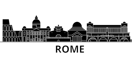 Illustration pour Rome architecture city skyline - image libre de droit