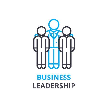Illustrazione per Business leadership concept , outline icon, linear sign, thin line pictogram, logo, flat illustration, vector - Immagini Royalty Free
