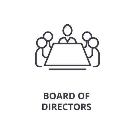 Ilustración de Abstract symbol of board of directors line icon, outline design flat vector illustration - Imagen libre de derechos
