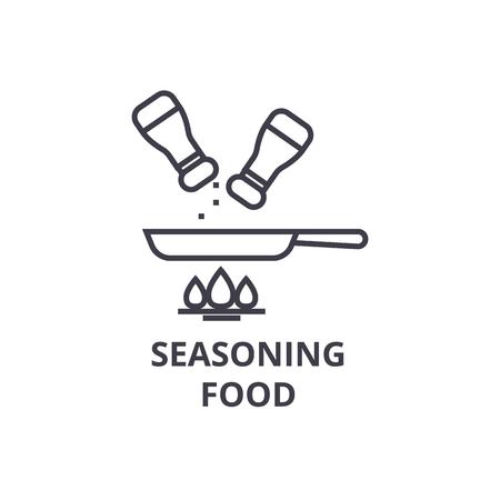Illustration pour seasoning food line icon, outline sign, linear symbol, flat vector illustration - image libre de droit