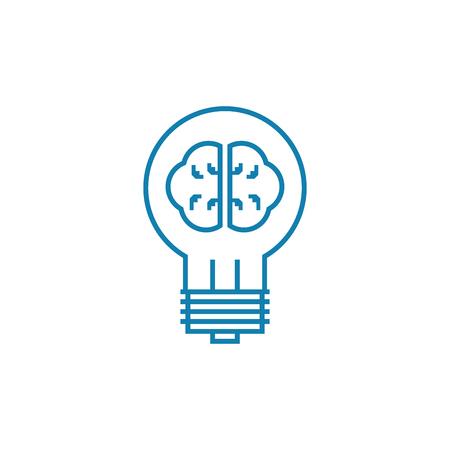 Illustration pour Development of innovative projects line icon, vector illustration. Development of innovative projects linear concept sign. - image libre de droit