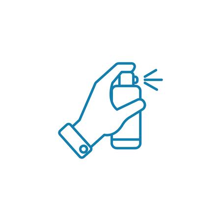 Ilustración de Disinfectants line icon, vector illustration. Disinfectants linear concept sign. - Imagen libre de derechos