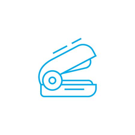 Illustration pour Stapler line icon, vector illustration. Stapler linear concept sign. - image libre de droit