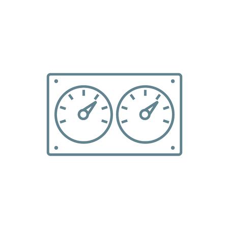 Ilustración de Water meters line icon, vector illustration. Water meters linear concept sign. - Imagen libre de derechos
