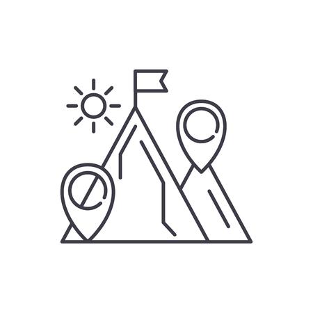 Illustration pour Business purpose line icon concept. Business purpose vector linear illustration, sign, symbol - image libre de droit