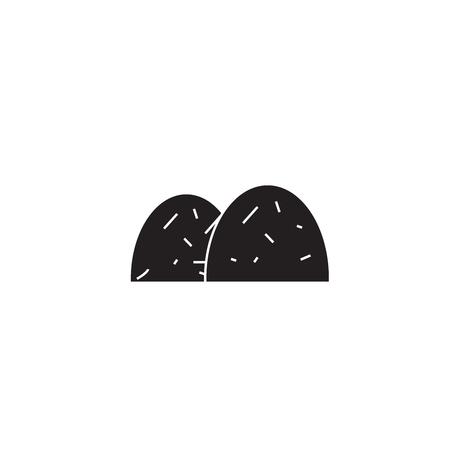 Illustration pour Bay hales black vector concept icon. Bay hales flat illustration, sign, symbol - image libre de droit