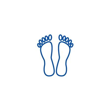 Ilustración de Heels,pedicure line concept icon. Heels,pedicure flat  vector website sign, outline symbol, illustration. - Imagen libre de derechos