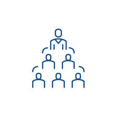 Ilustración de Company structure line concept icon. Company structure flat  vector website sign, outline symbol, illustration. - Imagen libre de derechos