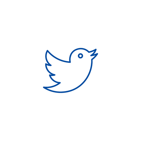 Illustration pour Dove,twitter line concept icon. Dove,twitter flat  vector website sign, outline symbol, illustration. - image libre de droit