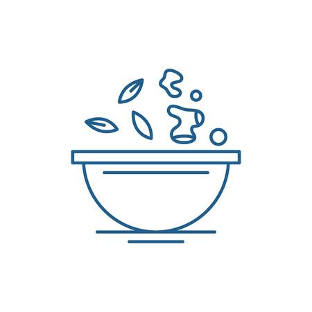 Ilustración de Diet food line concept icon. Diet food flat  vector website sign, outline symbol, illustration. - Imagen libre de derechos