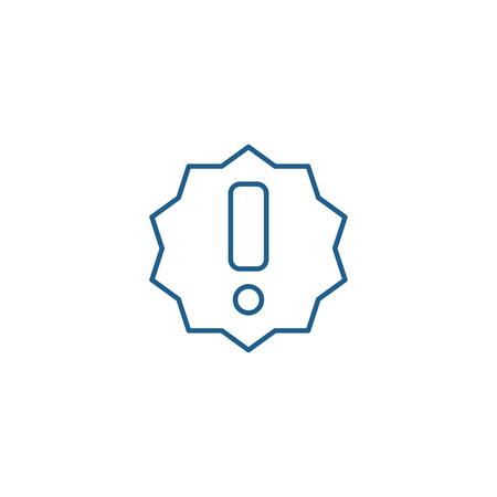 Ilustración de Exclamation line concept icon. Exclamation flat  vector website sign, outline symbol, illustration. - Imagen libre de derechos