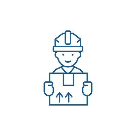 Illustration pour Express delivery line concept icon. Express delivery flat  vector website sign, outline symbol, illustration. - image libre de droit