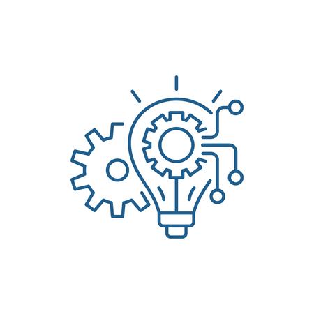 Ilustración de Engineering system line concept icon. Engineering system flat  vector website sign, outline symbol, illustration. - Imagen libre de derechos