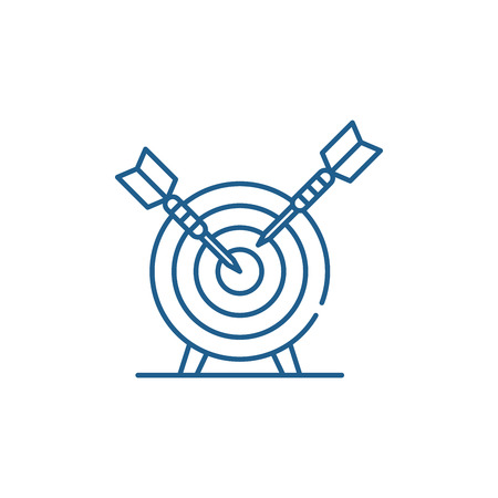 Ilustración de Goalkeeping system line concept icon. Goalkeeping system flat  vector website sign, outline symbol, illustration. - Imagen libre de derechos