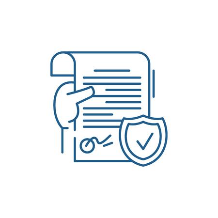 Illustration pour Legal document line concept icon. Legal document flat  vector website sign, outline symbol, illustration. - image libre de droit