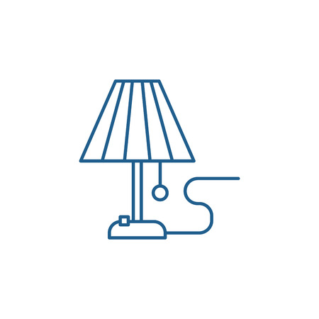 Illustrazione per Lamp line concept icon. Lamp flat  vector website sign, outline symbol, illustration. - Immagini Royalty Free