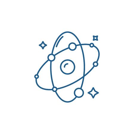 Illustration pour Molecule line concept icon. Molecule flat  vector website sign, outline symbol, illustration. - image libre de droit