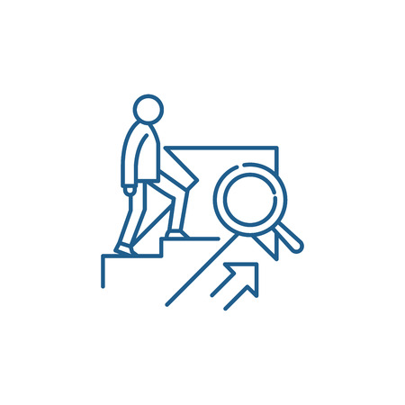 Illustration pour PERSONAL GROWTH line concept icon. PERSONAL GROWTH flat  vector website sign, outline symbol, illustration. - image libre de droit