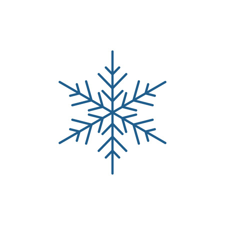 Ilustración de Snowflake decor line concept icon. Snowflake decor flat  vector website sign, outline symbol, illustration. - Imagen libre de derechos