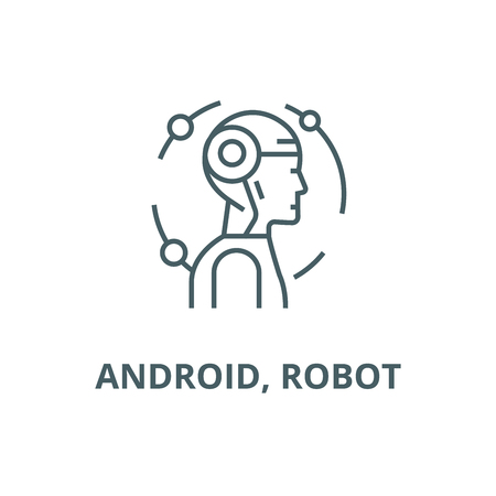 Illustration pour robot line icon vector robot outline sign, concept symbol, illustration - image libre de droit