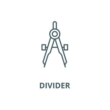 Illustration pour Divider line icon, vector. Divider outline sign, concept symbol, illustration - image libre de droit