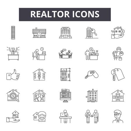 Illustration pour line icons, signs set, vector. - image libre de droit