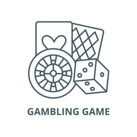 Ilustración de Gambling game vector line icon, outline concept, linear sign - Imagen libre de derechos